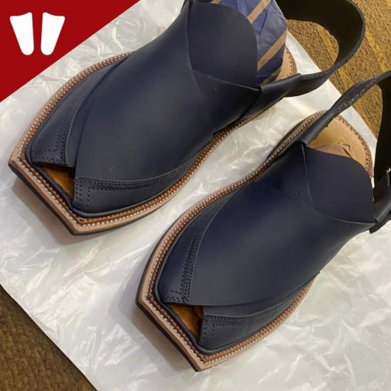 Peshawari Chappal - Pure Leather Peshawari Sandal - Handmade