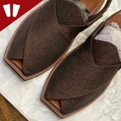 Stylish Waistcoat (material) Peshawari Chappal - Handmade