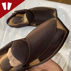 Stylish Waistcoat (material) Peshawari Chappal - Handmade - Multi Dots