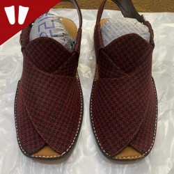 Stylish Waistcoat (material) Peshawari Chappal - Handmade Peshawari Sandal