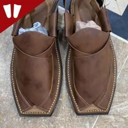 Branded Peshawari Chappal - Pure Leather - Handmade - Double Shade