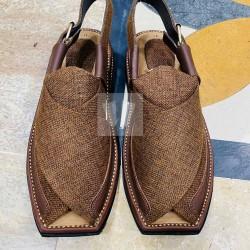 Branded Zalmi Chappal - Waistcoat (material) - Handmade - Side Strip