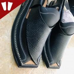 Branded Peshawari Chappal - Pure Leather - Handmade - Black