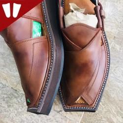 Kaptaan Chappal - Pure Leather - Handmade - Brown