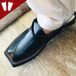 Kaptaan Chappal - Pure Leather - Handmade - Black