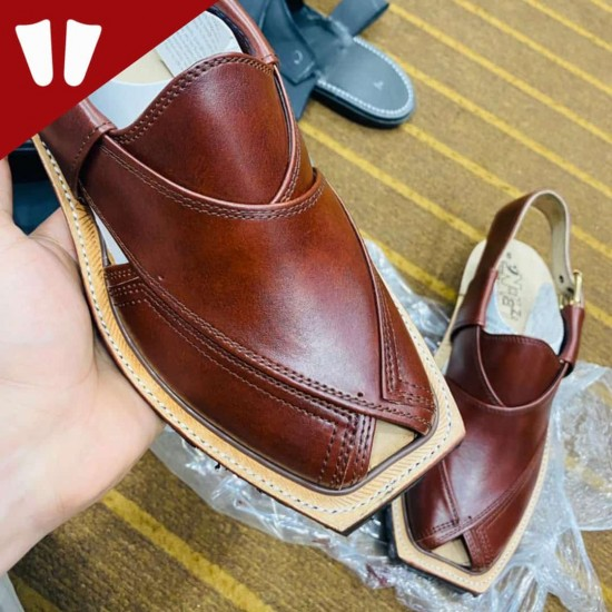 Original Norozi Chappal - Pure Leather - Handmade - Red