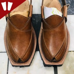 Original Norozi Chappal - Pure Leather - Handmade - Brown