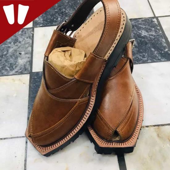Original Norozi Chappal - Pure Leather - Handmade - Brown