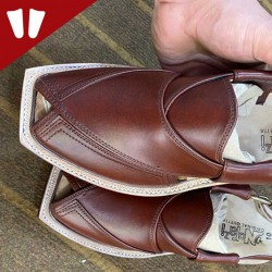 Original Norozi Chappal - Pure Leather - Handmade - Red