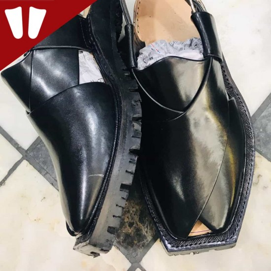 Original Norozi Chappal - Pure Leather - Handmade - Black