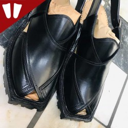 Original Norozi Chappal - Pure Leather - Handmade - Black