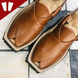Original Norozi Chappal - Pure Leather - Handmade - Light Brown