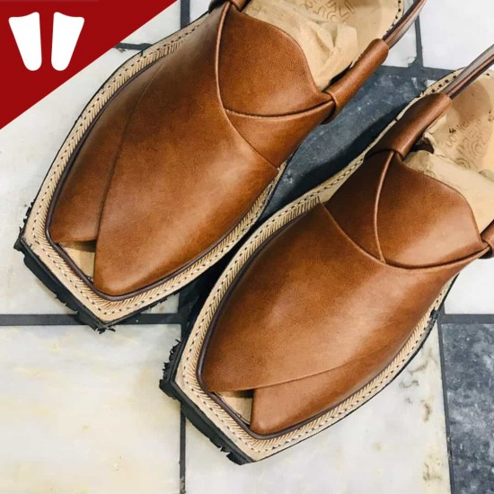 Original Norozi Chappal - Pure Leather - Handmade - Light Brown