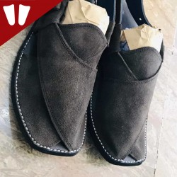 Sabar (suede) Peshawari Chappal - Pure Leather - Chocolate
